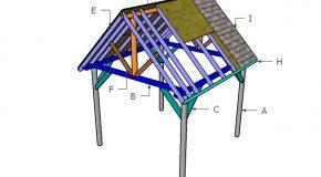 10×10 Pavilion Roof Plans