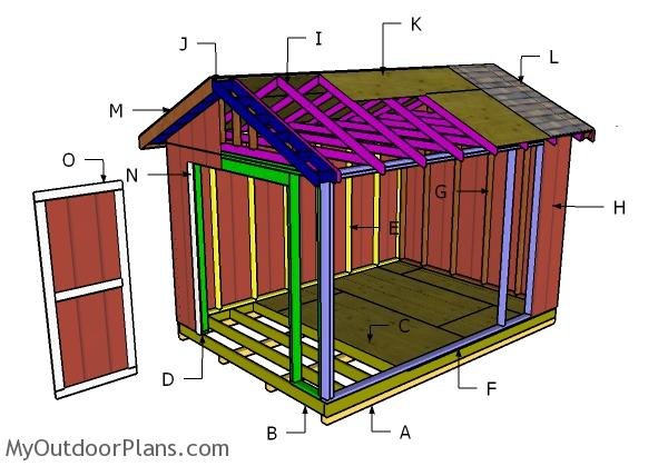 10x14 Gable Shed Roof Plans