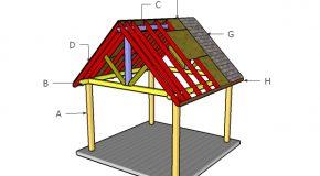 12×12 Pavilion Roof Plans