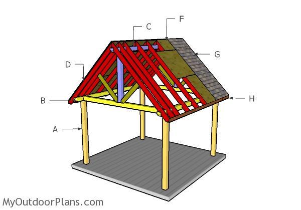 12x12 Pavilion Roof Plans