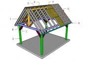 12×16 Pavilion Roof Plans