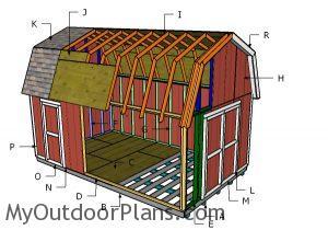 Building a 12x20 gambrel shed