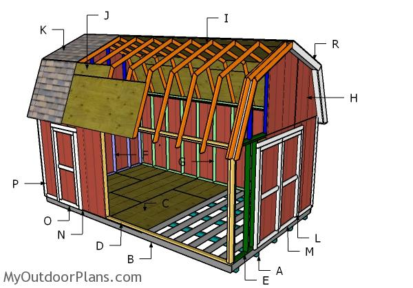 12x20 Gambrel Shed Plans Myoutdoorplans Free Woodworking Plans And Projects Diy Shed Wooden Playhouse Pergola Bbq