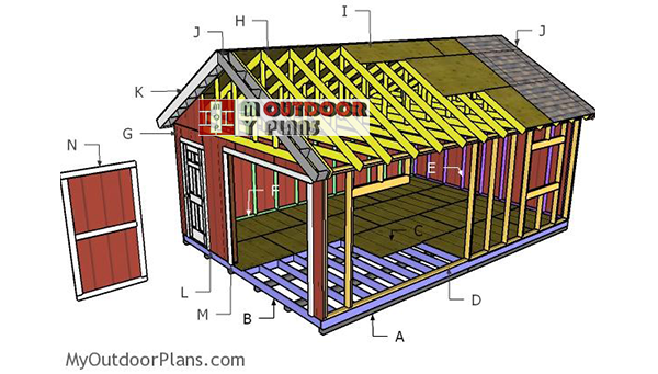 Building-a-16x24-shed-gable-roof