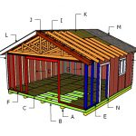 20×20 Gable Shed Roof Plans