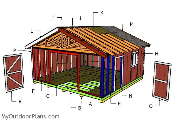 20x20 Gable Shed Roof Plans | MyOutdoorPlans | Free ...