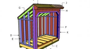 4×8 Saltbox Wood Shed Roof Plans