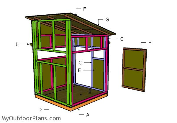 5x5 Shooting House Roof Plans