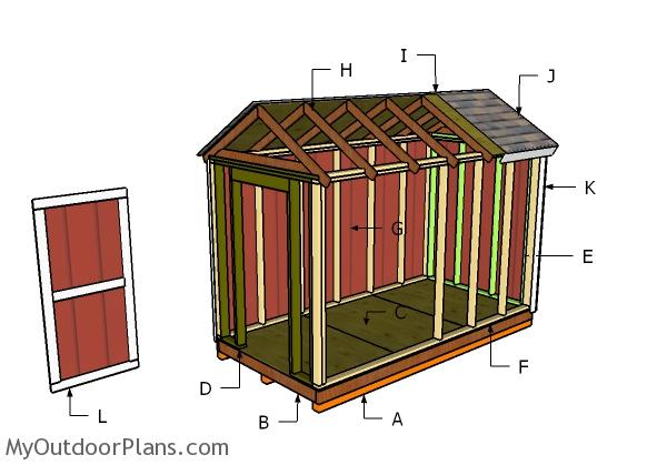 6x12 Shed Roof Plans
