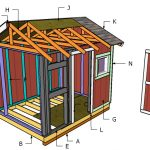 8×10 Gable Shed Roof Plans