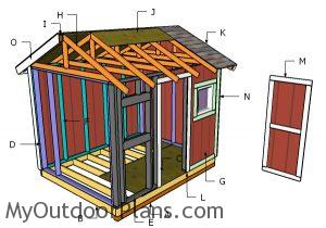 Building a 8x10 garden shed