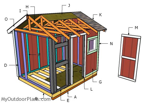 8x10 Gable Shed Roof Plans