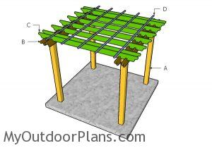 Building a 8x8 pergola