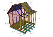 Playhouse with Porch Roof Plans