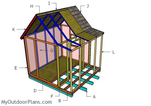 Playhouse With Porch Roof Plans Myoutdoorplans Free