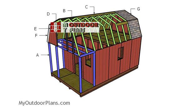 Building-a-small-gambrel-cabin