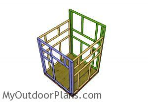 Building the frame of the shooting house
