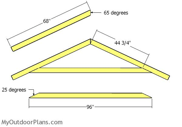 8x10 Gable Shed Roof Plans Myoutdoorplans Free Woodworking Plans And Projects Diy Shed Wooden Playhouse Pergola Bbq