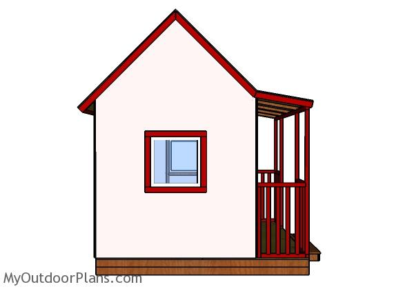 Childrens playhouse plans - Side view