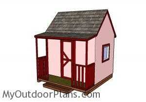 Childrens playhouse with porch plans