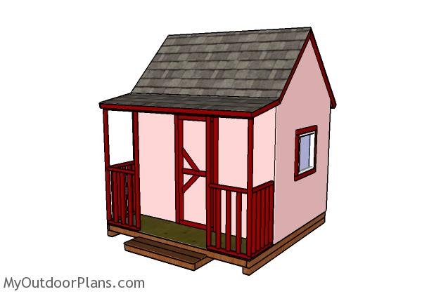 Children's Playhouse with Porch Plans