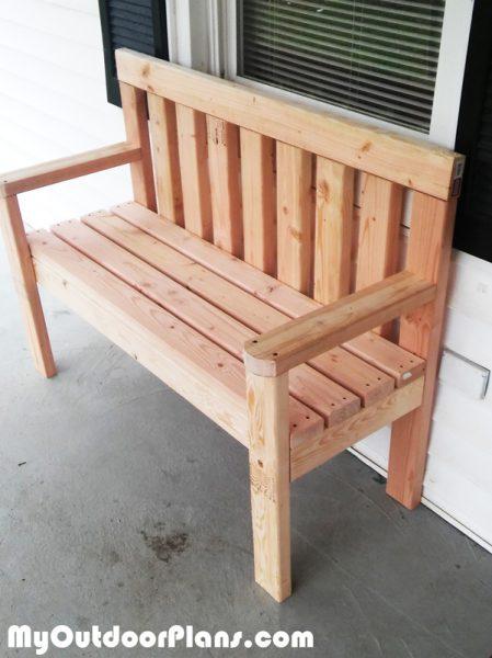 Diy simple garden bench myoutdoorplans free for Simple garden bench designs