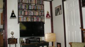 DIY DVD Shelves