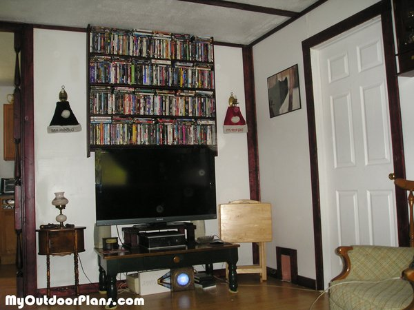DIY DVD Shelves