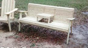 DIY Swing Style Garden Bench