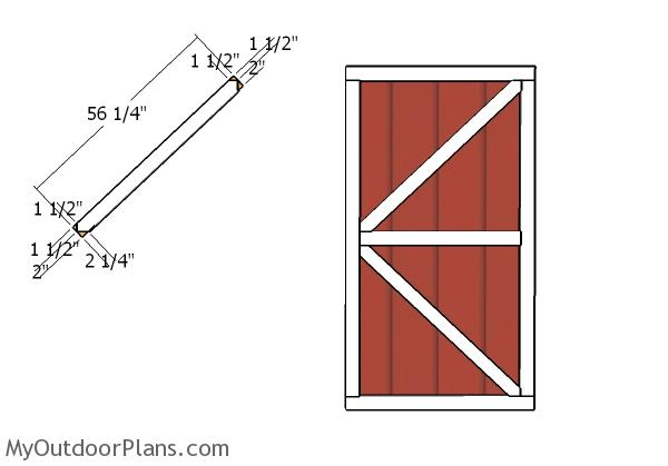 Diagonal door trims