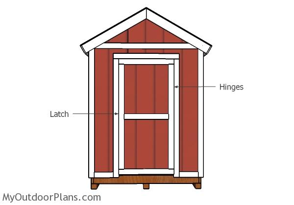6x12 Shed Door and Trims Plans