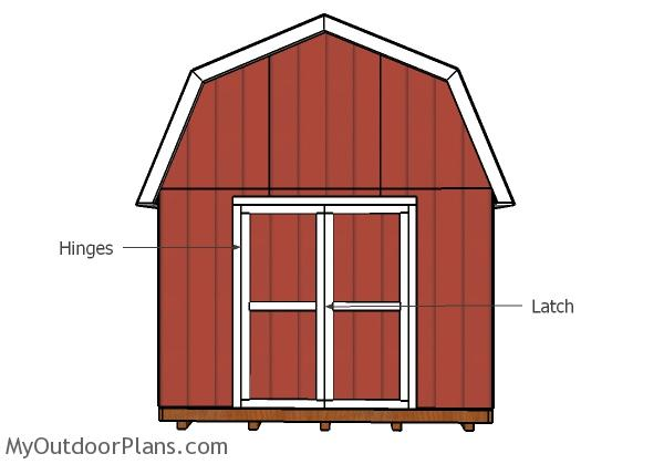 12x20 gambrel shed doors plans myoutdoorplans free for Double door shed plans