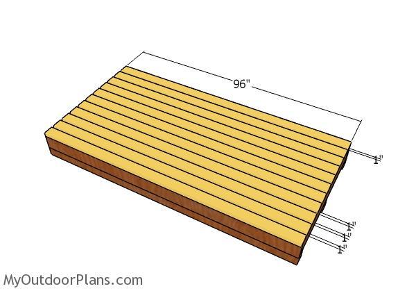 Fitting the floor slats
