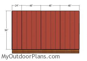 Fitting the side siding sheets