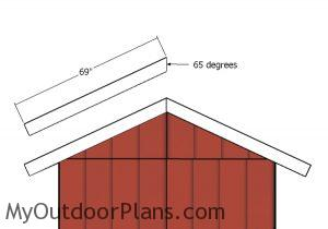 Front and back roof trims