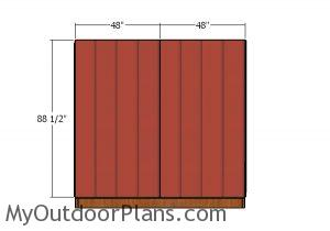 Front and back wall - Siding