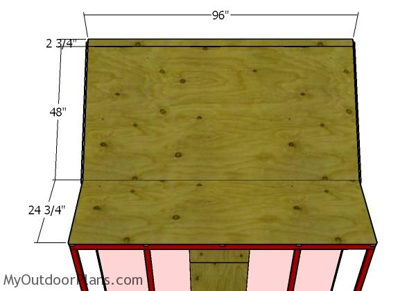 Front roof sheets