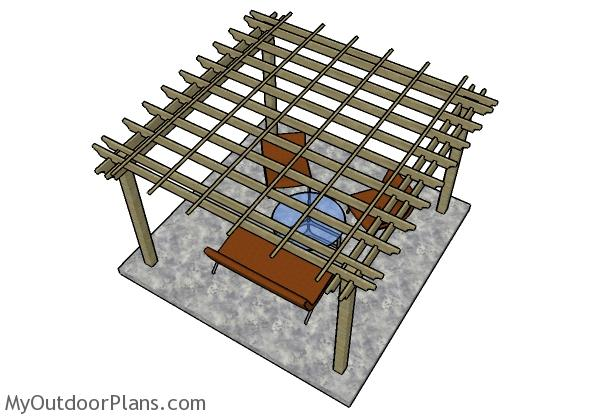 How to build a 12x12 pergola