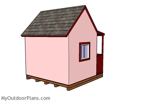 Playhouse with Porch Plans - Back view