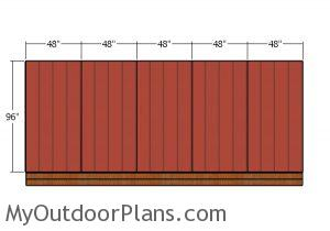Side and back wall - siding