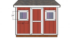 8×10 Shed Door and Trims Plans