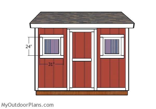 8x10 Shed Door and Trims Plans