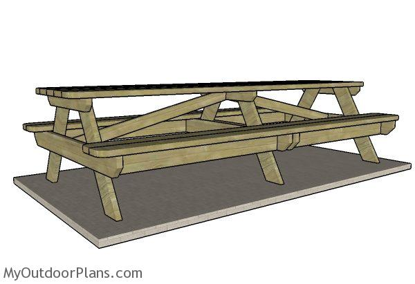 10 foot picnic table plans myoutdoorplans free