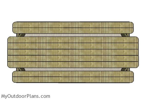 10 foot Picnic Table - Top view