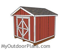 10x10 Gable Shed Plans