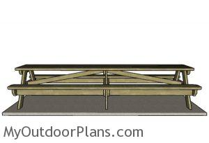 12 foot Picnic Table - Front view