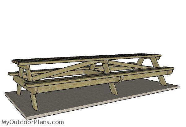 12 Foot Picnic Table Plans Myoutdoorplans Free