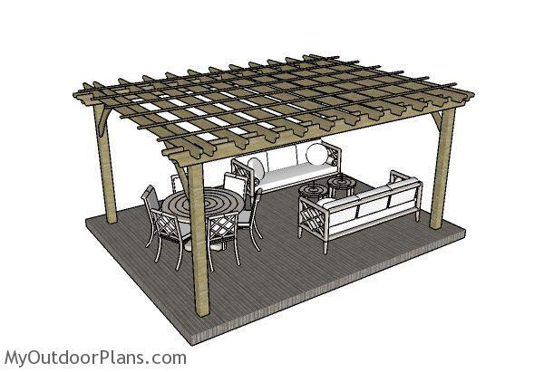 Do It Yourself Home Design: 12x16 Pergola Plans