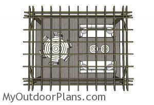 12x16 Pergola Plans - Top View