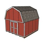 16×16 Gambrel Shed Plans